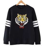 Wholesale Yuri Costume - Anime Yuri on Ice Yuri Plisetsky Cosplay Yuri!!! on Ice Pullover tiger Sweatshirt Costume 4 colors in stock High Quality