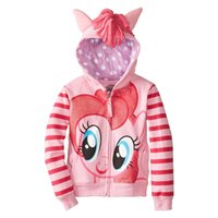 Wholesale New Trends Clothes Girls - Wholesale- 216 new retail trends in fashion cartoon girl child girl jacket large size foal cartoon sweater coat cotton clothing