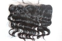 Wholesale Cheapest Brazilian Virgin Hair - Cheapest virgin Peruvian frontal pieces13x2 ear to ear body wave swiss lace frontal bleached knots can be DYED Free shipping
