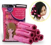 6 Pcs / Set Hairstyle Soft Hair Care DIY Roll Hair Style Roller Curler Salon Soft Sponge Pink Color Hair Roller