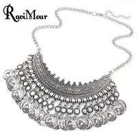 Chokers coin - RAVIMOUR Turkish Coins Choker Maxi Necklaces Pendants For Women Vintage Multilayer Statement Choker Collier Femme Jewelry