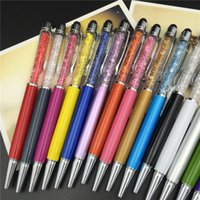 Wholesale Style Capacitive Touch Screen Stylus - New Style Hot Sale Senior Metal Crystal Diamond Ballpoint Pen Capacitance Touch Screen Advertisement Cute Stylus For Phone And Written