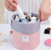 Wholesale Nylon Bucket - Large capacity cylinder cosmetic bag outdoor waterproof bucket bag travel bag