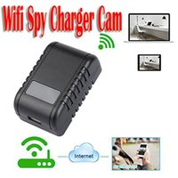 Wholesale Ccd Camera Adapter - 1080P Wifi Hidden Adapter Camera Motion Activated AC Power Adapter USB Wall Charger Night Vision Camera Nanny Cam Home Security Camera