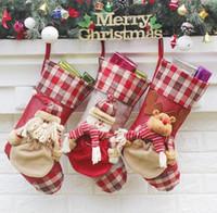 ingrosso regalo natalizio-Grandi calze natalizie creative Decorazioni natalizie per la casa Addobbi per l'albero di Natale Reggiseni Calze Enfeite De Natal