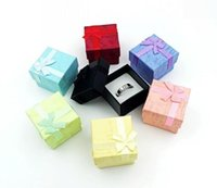 Pinkycolor Square Ring Brinco Colar Jóias Caixa Gift Gift Case Holder Set 4 * 4 * 3 cm Free Shipping 50pcs / lot