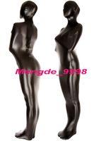 glänzendes metallisches zentai großhandel-Unisex Full Mummy Anzug Schwarz Shiny Metallic Mummy Kostüme Outfit Unisex Schlafsack Fancy Bodybag Kostüme New Halloween Cosplay Anzug M082