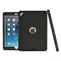 Wholesale Ipad Back Rubber - 3 in 1 Hybrid Armor Robot Case For Apple Ipad Pro 9.7 inch Silicon + PC Defender Shockproof Heavy Duty Case Back Cover