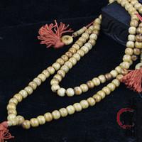 Wholesale Mala Bones - IB6411 Tibet Yak Bone Loose Beads 8mm 10mm 12mm Buddhism 108 Prayer Beads Necklace Mala Nepal Tibet Beads