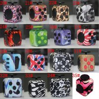 Wholesale First Movies - Fidget Cube CAMO colors the world's first American decompression anxiety Toys Wholesale with Retail Box Novelty Toys 16 colors LC544