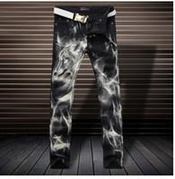 pantalon métrosexual achat en gros de-Le nouveau timbre jean fashion personnalité Metrosexual jeunesse jean droit slim pants Club