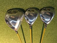 Barato Marca Golf Clubes Motoristas-3 estrelas Honma S-05 Full Set Honma IS-05 Brand New Golf Clubs Driver + Fairway Woods + Irons + Putter Grafite Eixo com tampa