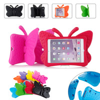 Wholesale Kid Ipad Case Cover - Cute Kids Safe Cases EVA Shockproof Case for iPad Mini 1 2 3 4 pad 5 6 Cartoon Butterfly Stand Tablet Cover for Pad Air 1 2