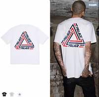Wholesale Men Striped Shirt Black White - Wholesale-2017 Palace T shirt Men High Quality Palace Skateboards T-Shirts 100% Cotton Summer Style Short Sleeve Causal Tee
