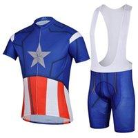 мужская одежда спортивная одежда оптовых-America Team мужская с коротким рукавом велоспорт Джерси Roupa Ciclismo / дышащий велосипед Велоспорт одежда / Quick-Dry гоночный велосипед спортивная одежда