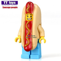 Wholesale Super Hot Models Men - WholeSale 20pcs Hot Dog Man BATMAN SUPER HEROES AVENGERS DIY MODEL Minifigures Assemble Building Blocks Kids Toys Gift