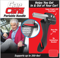 Wholesale Assisted Support - Portable Car Handle Cane Support Auto Assist Grab Bar Vehicle Emergency Escape Emergency Hammer Tool with Window Breaker Seat Belt Cutter