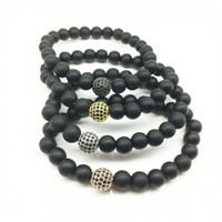 Wholesale Diamond Natural Bracelet - 2017 Wholesale Handmade Natural crystal diamond beads bracelet matte yoga Buddha Beads Bracelets for Men Women Jewelry
