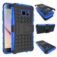 Wholesale Galaxy Active Cases - Dual Layer Heavy Duty Rugged Armor Combo Kickstand Case Cover For Samsung Galaxy S6 S7 Edge S7 Active S6 Plus S8