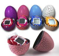 llavero de juguete para mascotas al por mayor-Tamagotchi tumbler Toy con llavero EDC Multi-color Cartoon Surprise Egg Electronic Pet Mini Hand-Hold Game Machine, un regalo de juguete