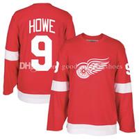 Wholesale fast custom - Men's Detroit Red Wings 9# Gordie Howe CCM Red Heroes of Hockey Alumni Jersey Custom Jerseys fast free shipping