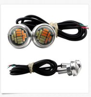 Venta al por mayor 23mm LED Eagle Eye 5730 4SMD Color Dualbackback WhiteAmber vehículo DRL Lignt venta al por mayor
