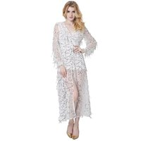 Wholesale Violin Dress - Clock Violin New Arrival Top Fashion Clocks Wooden Wall Calendar The 2017 Summer Couture Sequins Fringed Deep V Collar Front Fork Sexy Dress