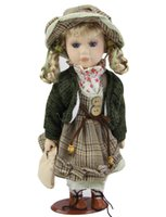 Wholesale Hot Simulation Inch Porcelain Dolls Classical Girl with Hat Doll Realistic Ceramic Baby Toys Birthday Gift Can Stand for Kits