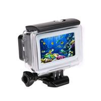Wholesale Action Shot Waterproof - SHOOT 35m Diving Waterproof Touch Cover Case For Xiaomi Yi 4K 2 II Action Camera Xiaoyi Case 4K Yi Accessories