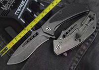 cuchillo plegable cnc strider al por mayor-Envío gratis 8 '' Nueva CNC D2 cuchilla de apertura rápida mango de acero completo plegable cuchillo DF60