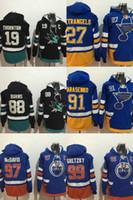 Wholesale Factory St - Factory Outlet 2017 new arrivails-Edmonton Oilers Gretzky McDavid San Jose Sharks Burns Thornton St. Louis Blues ice hockey jerseys Hoodies