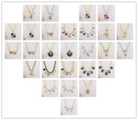 Wholesale Cheap Yellow Gold Wedding Sets - 2017 New Fashion Jewelry Cheap Brand Choker Necklace Sets Chokers Statement Pendant Necklace For Women Wedding Xmas Good Gift Mix Order