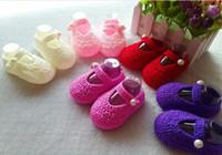 ingrosso i formati dei pattini del bambino dell'uncinetto-Crochet Baby boy Sandali, Scarpe estive fatte a mano all'uncinetto per bambini misura 0-12M Molte scarpe Colorfirst walker