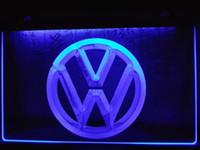Wholesale Place Cars - LG145b- Volkswagen VW Car Logo Services LED Neon Light Sign