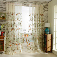 Wholesale Door Curtains Butterfly - Korean embroidered butterfly Window sheer Curtains Tulle voile for Living Room Children's bedroom 10% silk 1pcs wholesale fabric price