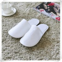 Wholesale Disposable Foldable - Hotel Supplies Disposable Shoes White Color Foldable Shoes Comfort Wear Terry Fabric Indoor Household Supply For Hotel Travel Wholesale
