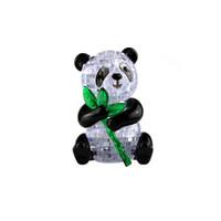 magic sphäre puzzle großhandel-Heißer verkauf niedlichen panda modell puzzle kristall puzzle beliebte kinder spielzeug diy gebäude spielzeug geschenk gadget kristall 3d puzzle