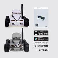 Купить Мини-камера С Дистанционным Управлением-I-SPY Mini RC Tank 0.3M HD Camera Video Car Wifi Wireless Realtime iOS Android для дистанционного управления iPhone для детей