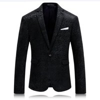 Wholesale Plus Size Leopard Blazer - Hot Solid Black Mens Printed Blazer Leopard Fashion Mens Clothing Party Stage Costumes For Singers plus size