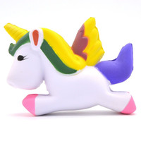 Barato Crianças Coleções Atacado-New 13cm Squishy Unicorn Kawaii Slow Rising Squeeze Toy Collectibles Cute Phone Straps Pingente Pão Creme De Bolo Scented Kids Gift Atacado