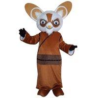 Wholesale Kung Fu Panda Outfit - Kung Fu Panda Cartoon Fancy Dress Outfit Shifu Racoon Mascot Costume