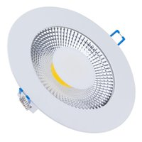 Wholesale Light Control Energy Saving - Wholesale- Energy Saving 15W 10W 5W Round COB LED Downlight Recessed COB Ceiling Panel Light Glass Scrub COB LED Fixture+85-265V LED Driver