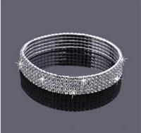 Bracelet en Strass 5-rangs Femme pour Mariée Mariage