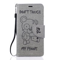 Wholesale huawei silicon cases for sale – best Luxury Cute bear PU Leather Soft Silicon Wallet Flip Cover Case For Huawei P9 P9 Lite Y3 Y5 Y6