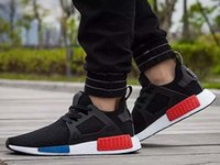 PVC blk leather - 2017 Classic NMD_XR1 OG balck white blue red Runner Primeknit Originals Core Blk Blue Men Running Shoes sports Sneakers Men Women size