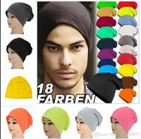 Wholesale Turban Women Dance - 15 Candy color unisex winter hat head set Korean style men women tide turban hat knitted cap streetwear dance hip hop Skullies Beanies S542