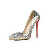 ingrosso scarpe stiletto alla moda-Scarpe di marca LTTL Scarpe a spillo alla moda Punta a punta Punta in punta Scarpe con tacco alto per le donne Scarpe da festa sexy Zapatos Tacones Sapatos Femininos