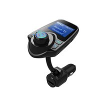 Wholesale Car Audio Output - Wholesale-New big screen auto wireless bluetooth hands free car kit FM transmitter MP3 player voiture USB charger support AUX audio output