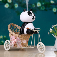 Wholesale Lovely Panda Cartoon - 2017 New Arrival Lovely Cartoon Panda Humidifier Aroma Essential Oil Diffuser Ultrasonic Air Humidifier Factory Wholesale with Free Shipping