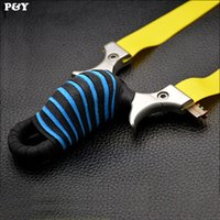 Wholesale Rubber Band Slingshot - Genuine Piao Yu Hunting Slingshot Stainless Steel Catapult Flat Rubber Band Outdoor Shooting Game High Quality Slingshots